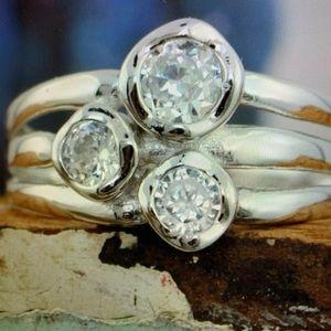 "Inspiranza Designs ""I Am"" ring. Size 6. Sterling"